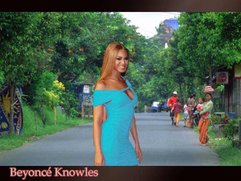 Beyonce Knowles Sexy On The Street Wallpaper Desktop Nude -3410